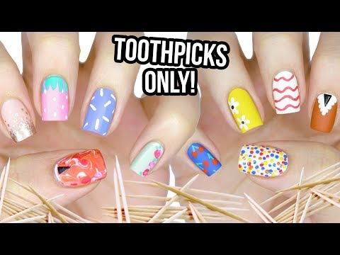 10 Nail Art Designs Using A TOOTHPICK! | The Ultimate Guide #1