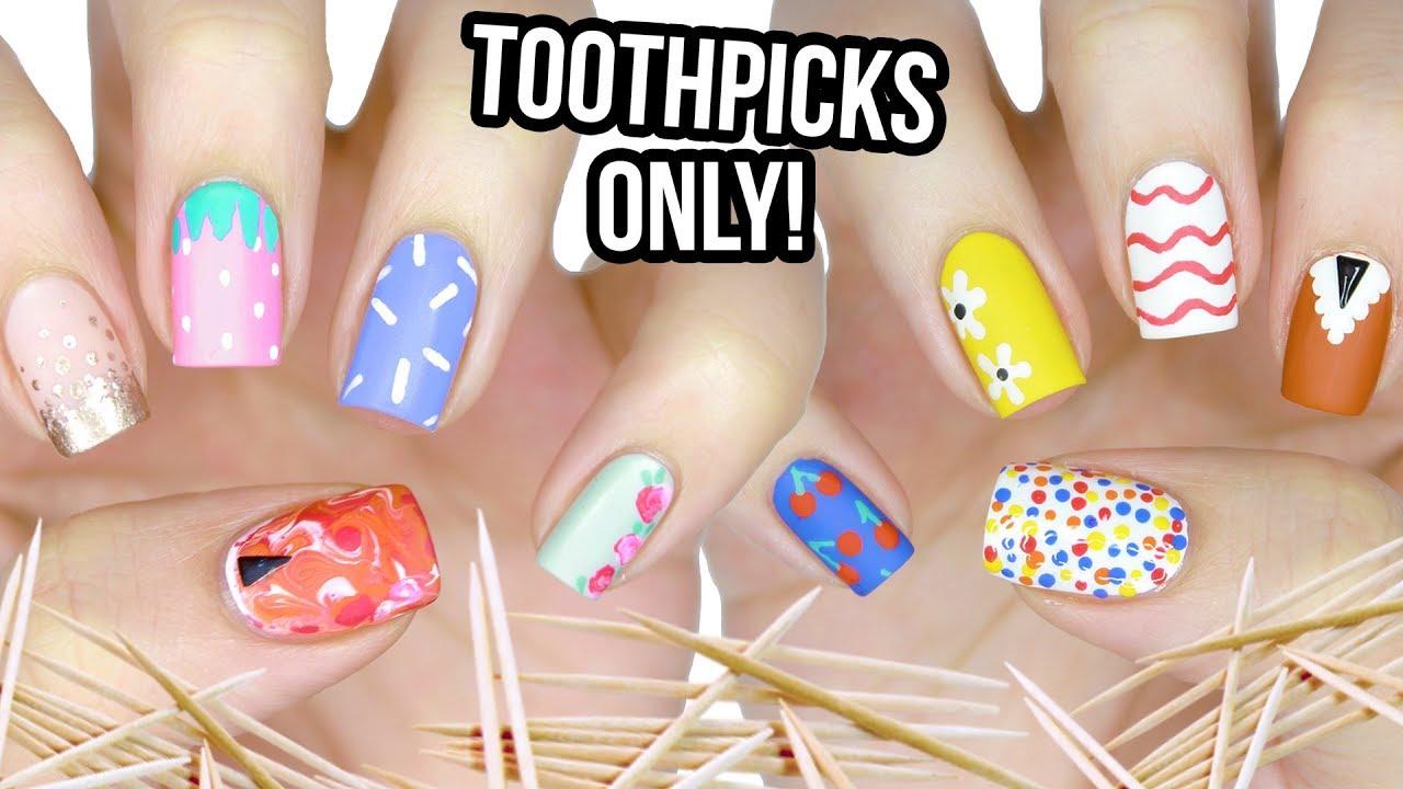 nail art design toothpick