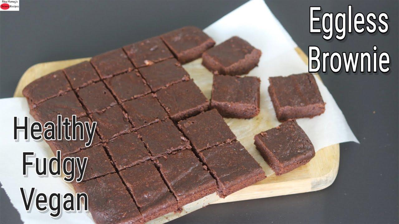 Brownie Recipe - Healthy Whole Wheat Chocolate Brownies - Eggless Atta Brownie | Skinny Recipes