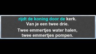 Twee Emmertjes Water Halen, instrumentaal met karaoke tekst
