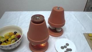 Geschenkidee – Schokoladen Ofen selbst bauen in 90 sek. – Schokofondue Rezept -Teelichtofen basteln