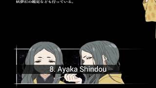 TOP 10 Personajes del anime kyoukai no kanata