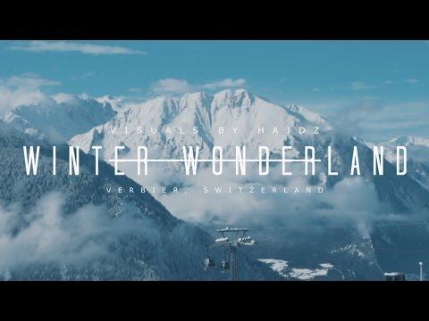 Skiing In Magical Verbier, Swiss Alps