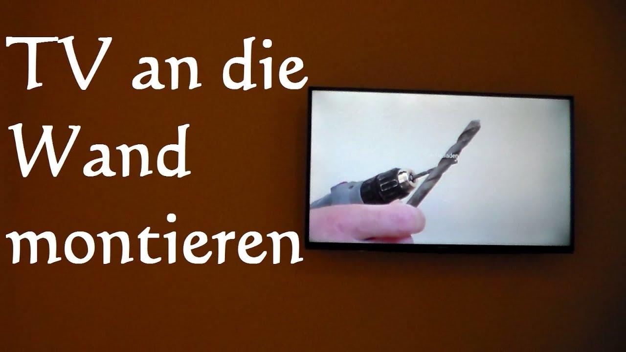 Fernseher An Die Wand Hängen  Flachbildfernseher Led Tv