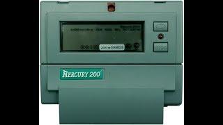 видео Как снимать показания с Меркурия 200