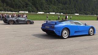 Bugatti EB110 vs Lamborghini Aventador SVJ