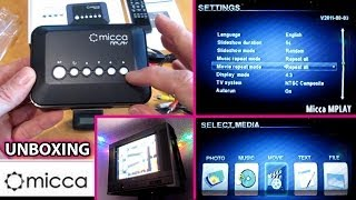 Micca Mplay UNBOXING and Setup. Speck HD Diamond Incredisonic Media Player