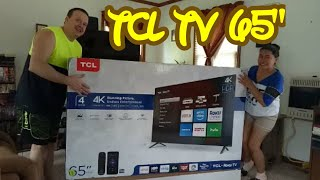 """65"""" TCL 4K UHD ROKU TV Review and Unboxing"""