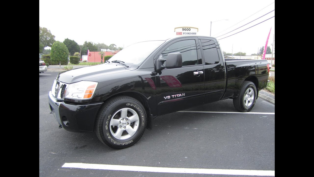 sold 2007 nissan titan 5 6 se ext cab one owner. Black Bedroom Furniture Sets. Home Design Ideas