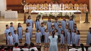sanmare children youth choir tampil di misa minggu panggilan 2017