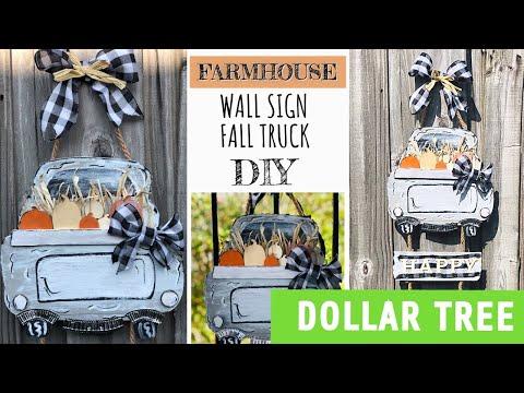 DiY farmhouse Dollar Tree/ fall truck diy/dollar store autumn diy/2019 DIY decor