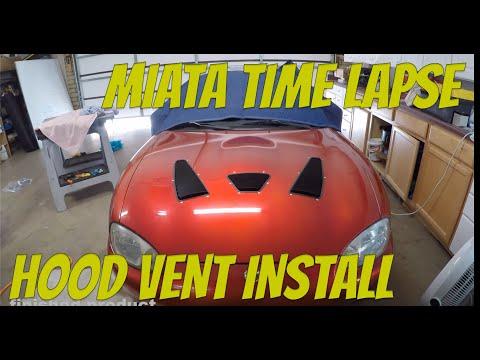 Time Lapse - Hood Louver Install - 1999 NB Mazda Miata
