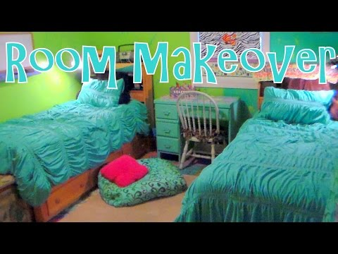 Twin Girls Bedroom Makeover {on a budget!} Before & After!