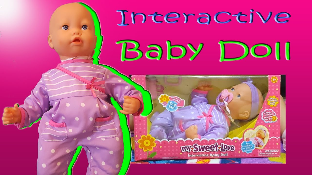 interactive the my sweet baby doll girl toys youtube