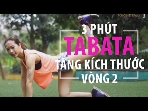 3 phút TABATA (Thứ Tư) - Tăng kích thước vòng ba | Hana Giang Anh
