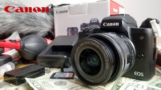 Canon EOS M50 Unboxing and Review. Best Budget YouTube Camera 2019?