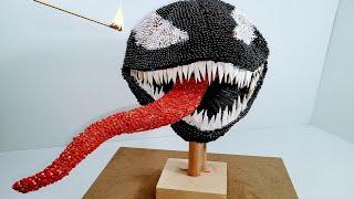 VENOM 3D SKULL Match Chain Reaction Amazing Fire Art Domino