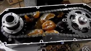 установка редуктора Техномастер и доработка мотора