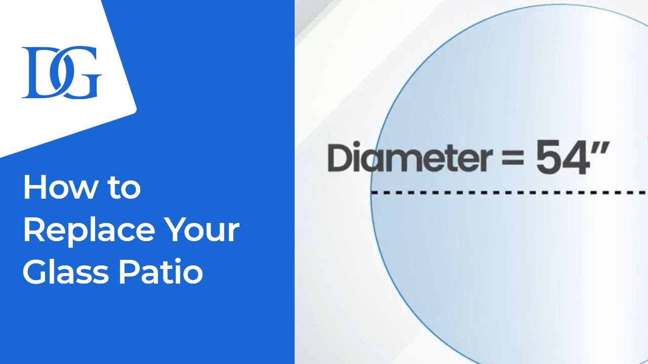 how to replace your glass patio table top