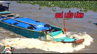Chở Quá Tải Vượt Cống/ Thuyền Trưởng Có Bản Lĩnh Hay Liều Lĩnh? | Boat overloaded - Long Miền Tây