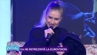 Ester Peony, reprezentanta Romaniei la Eurovision, canta la Maruta