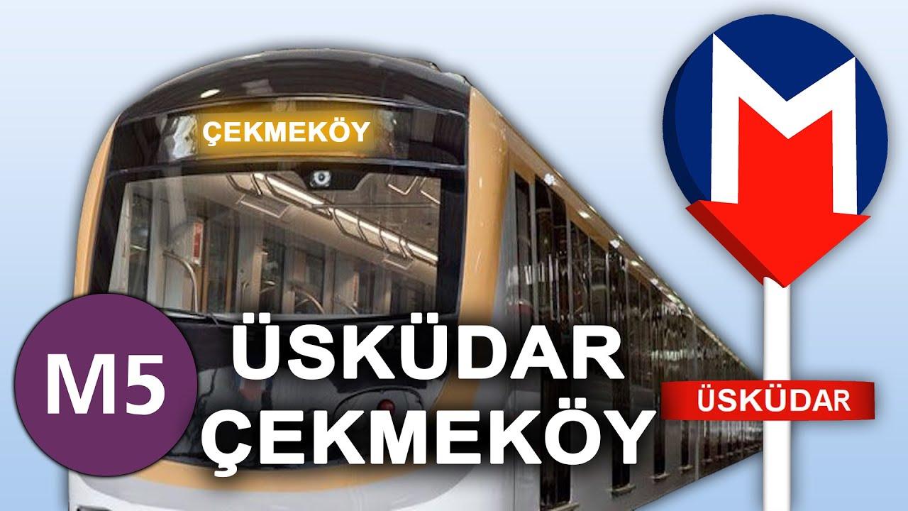 M5 Üsküdar - Çekmeköy Metro Hattı Google Earth Turu