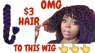 HOW TO MAKE CROCHET WIG easy natural hair protective style : Viana&#39s Beauty