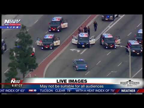 SUSPECT STANDOFF: CHP pursues woman following hit-and-run, crashes out in Santa Ana (FNN)