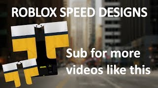 ROBLOX SPEED DESIGN: Yellow/White/Blue coat