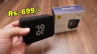 Tenor Rave (10.or) portable Bluetooth 5.0 Speaker, 3W output for Rs. 699