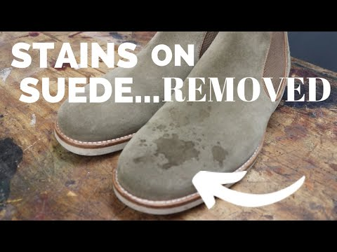 How to Clean Suede & Nubuck Using Suede Shampoo | Removing Wine Stain
