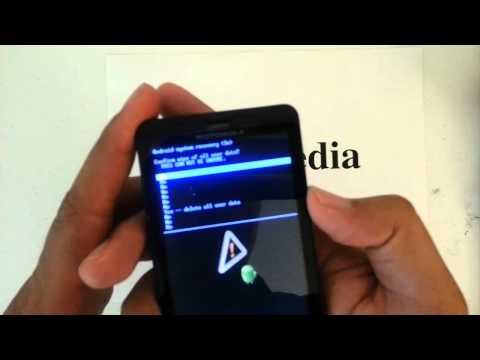 How to Factory Restore Hard Reset or Password Wipe the Motorola Droid X Verizon