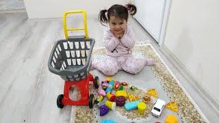 Ebrar markete gitmiş neler almış | for kids video | oyuncu bebe TV