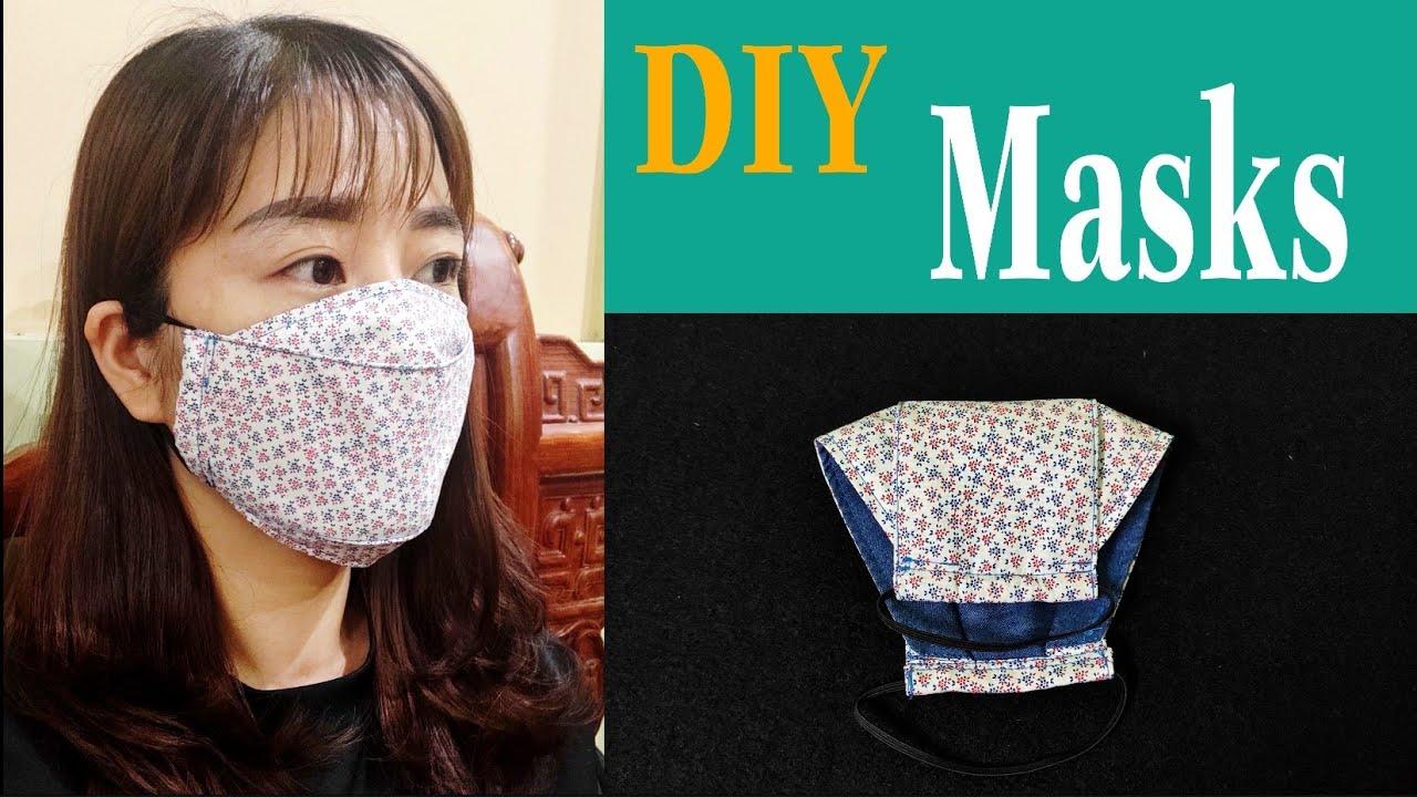 How to sew a simple 3D mask   Tự may khẩu trang đơn giản   ART Thao162