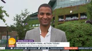 Andy Murray To Face Tomas Berdych | Good Morning Britain