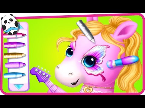 Fun Animals Care & Pet Makeover Kids Games - Pony Sisters Pop Music Band - Dress Up Game for Girls