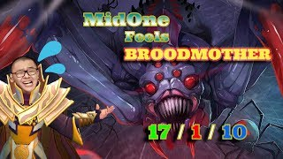 MidOne INVOKER Try Hard   Feels BROODMOTHER 17 / 1 / 10