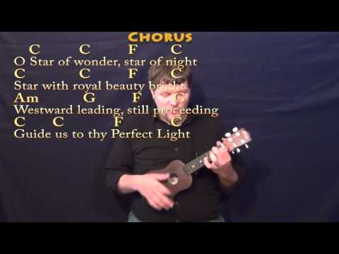 We Three Kings (Christmas) Ukulele Cover Lesson in Am with Chords/Lyrics