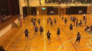 [NTT杯 2回戦]国分北(緑)−BLACK(黒青) 第27回 NTT西日本鹿児島支店杯ママさんバレーボール大会