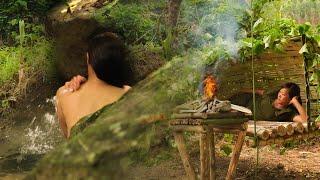 Full-video: 3 Days S๐lo Jungle Trip, Great Bushcraft Skill, DIY tree shelter