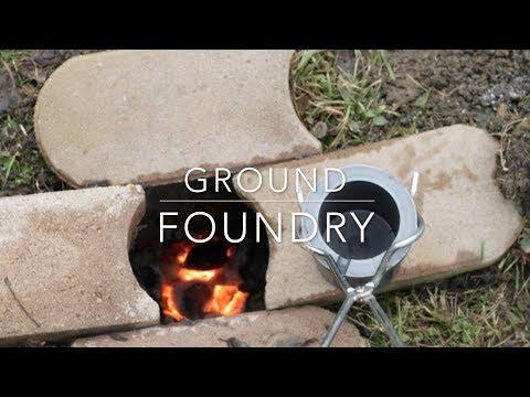 DIY ground metal foundry