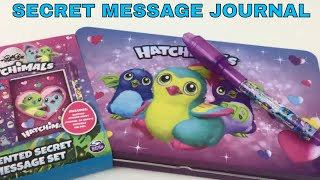 Hatchimals Scented Secret Message Set Journal Invisible Magic Pen Scented Stickers | Jelly Frog Toys