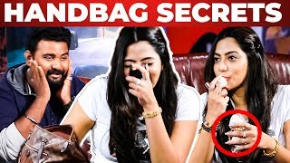 """Romance Perfume"" Inside Actress Saipriya's Handbag Secrets Revealed By VJ Ashiq"