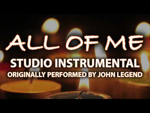 All Of Me (Cover Instrumental) [In the Style of John Legend]
