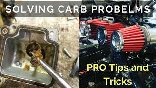 Carburetor diagnosing : Pod Filters and Dirty Carbs