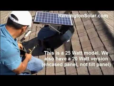 Remington Solar Attic Fan Installation - YouTube