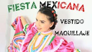 FIESTA MEXICANA / MAQUILLAJE PEINADO Y VESTIDO