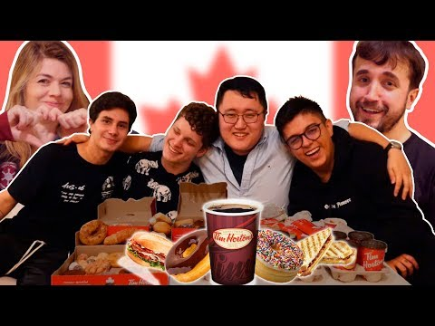 Brazilian  Stars Try: Canadian Fast Food THEY ATE THE WHOLE MENU