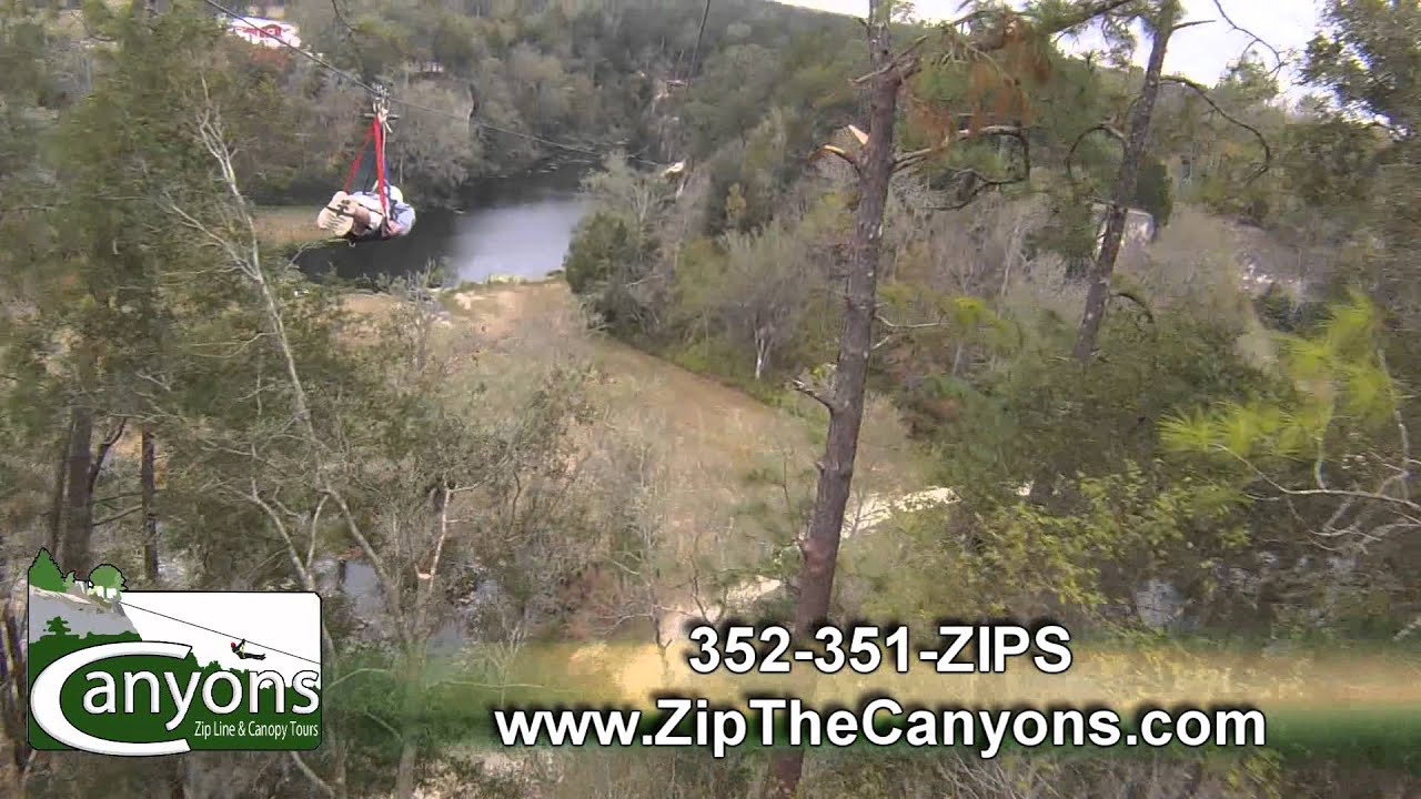 Canyons Zip Line Ocala Commercial incl. Super man Zip & Canyons Zip Line Ocala Commercial incl. Super man Zip - YouTube