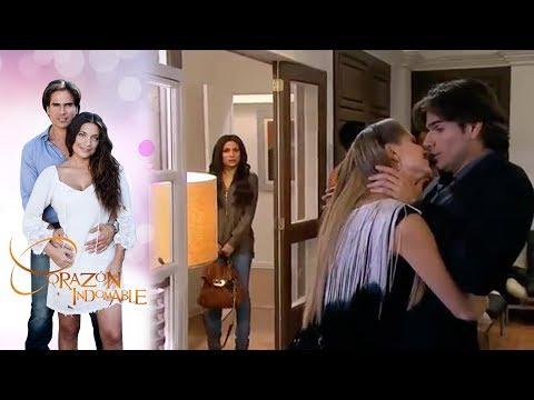 Maricruz encuentra a Octavio con Doris   Corazón indomable - Televisa